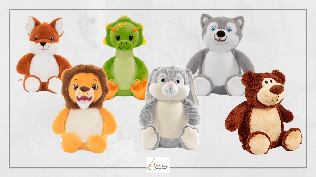 Embroidered Stuffed Animals for Mother's Day