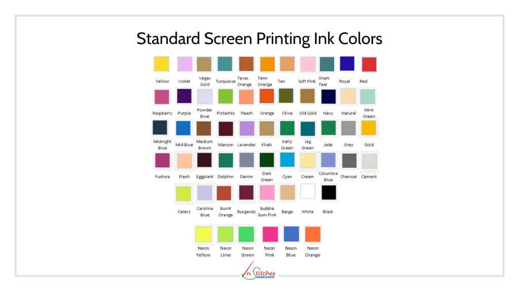Standard Screen Printing Inks